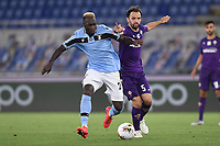Milan Badelj of Fiorentina and Felipe Caicedo of SS Lazio compete for the ball during the Serie A football match between SS Lazio and ACF Fiorentina at stadio Olimpico in Roma ( Italy ), June 27th, 2020. Play resumes behind closed doors following the outbreak of the coronavirus disease. Photo Antonietta Baldassarre / Insidefoto
