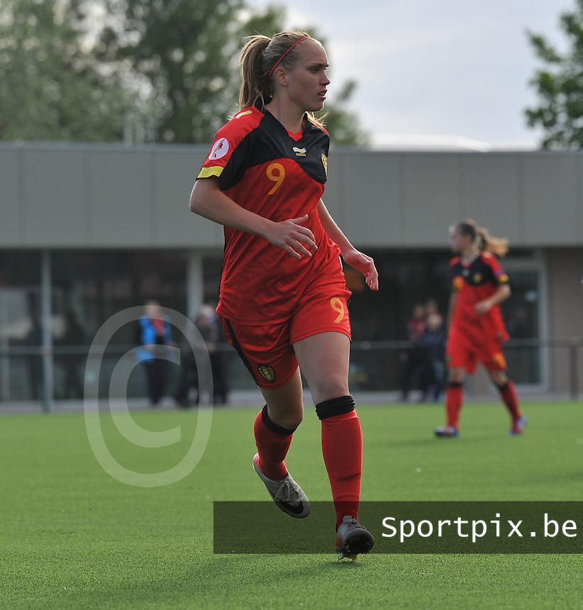 Belgium A - North Korea friendly game at Koksijde KVV Stadium - Belgie - Noord Korea : Janice Cayman.foto David Catry / Joke Vuylsteke / Vrouwenteam.be