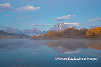 67545-09303 Sunrise at Oxbow Bend in fall; Grand Teton National Park; WY
