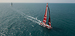 Mapfre and Team Brunel heading toward the finish line of the Volvo Ocean Race Leg 3 Abu Dhabi-Sanya on January 27, 2015 in Sanya, China. The Volvo Ocean Race 2014-15 is the 12th running of this ocean marathon. Starting from Alicante in Spain on October 11, 2014, the route, spanning some 39,379 nautical miles, visits 11 ports in 11 countries (Spain, South Africa, United Arab Emirates, China, New Zealand, Brazil, United States, Portugal, France, the Netherlands and Sweden) over nine months. The Volvo Ocean Race is the world's premier ocean race for professional racing crews. Photo by Victor Fraile / Power Sport Images