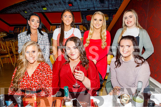 Enjoying the evening in Ristorante Uno on Saturday.<br /> Seated l to r: Lorna Moriarty, Tara O'Halloran and Ellen Sheehan. <br /> Back l to r: Jessica Hughes, Ailbhe and Erin Stack and Sarah Murray.