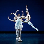 "English National Ballet. ""Celebration"". Thomas Edur and Agnes Oaks gala performance at Sadlers Wells in tribute to their carreer. ""Apollo"". Choreographer: George Balanchine."