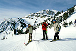 Wyoming: Jackson Hole Mountain, Downhill skiing, model released, wyjack102  .  Photo copyright Lee Foster, www.fostertravel.com, 510/549-2202, lee@fostertravel.com