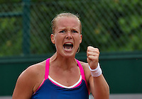 Paris, France, 28 June, 2016, Tennis, Roland Garros, Kiki Bertens (NED) shows emotion<br /> Photo: Henk Koster/tennisimages.com