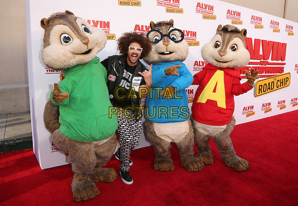 Los Angeles, CA - December 12 Redfoo Attending Premiere Of 20th Century Fox's &quot;Alvin And The Chipmunks: The Road Chip&quot; At The Zanuck Theater at 20th Century Fox Lot On December 12, 2015. <br /> CAP/MPI/FS<br /> &copy;FS/MPI/Capital Pictures