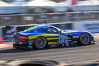 Dan Knox, #80 Dodge Viper GT3R, Pirelli World challenge race, Long Beach Grand Prix, Long Beach, CA, April 2015.  (Photo by Brian Cleary/ www.bcpix.com )
