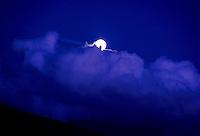 Moonrise, west Kaua`i.