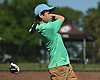 Jesse Levine of Frank McCourt High School tees off on the 1st Hole of Bethpage State Park's Black Course during the New York State Federation Golf Tournament on Sunday, June 7, 2015.<br /> <br /> James Escher