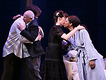 """Michael Shannon, Terrence McNally, Arin Arbus and Audra McDonald during the Opening Night Curtain Call for """"Frankie and Johnny in the Clair de Lune"""" at the Broadhurst Theatre on May 29, 2019  in New York City."""