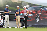 Dustin Johnson, Martin Kaymer (GER) and David Horsey (ENG) wait to tee off on the 18th tee during Day 1 of the BMW International Open at Golf Club Munchen Eichenried, Germany, 23rd June 2011 (Photo Eoin Clarke/www.golffile.ie)