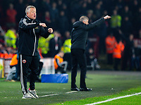 Sheffield United manager Chris Wilder shouts instructions to his team from the technical area<br /> <br /> Photographer Alex Dodd/CameraSport<br /> <br /> The Premier League - Sheffield United v Manchester United - Sunday 24th November 2019 - Bramall Lane - Sheffield<br /> <br /> World Copyright © 2019 CameraSport. All rights reserved. 43 Linden Ave. Countesthorpe. Leicester. England. LE8 5PG - Tel: +44 (0) 116 277 4147 - admin@camerasport.com - www.camerasport.com