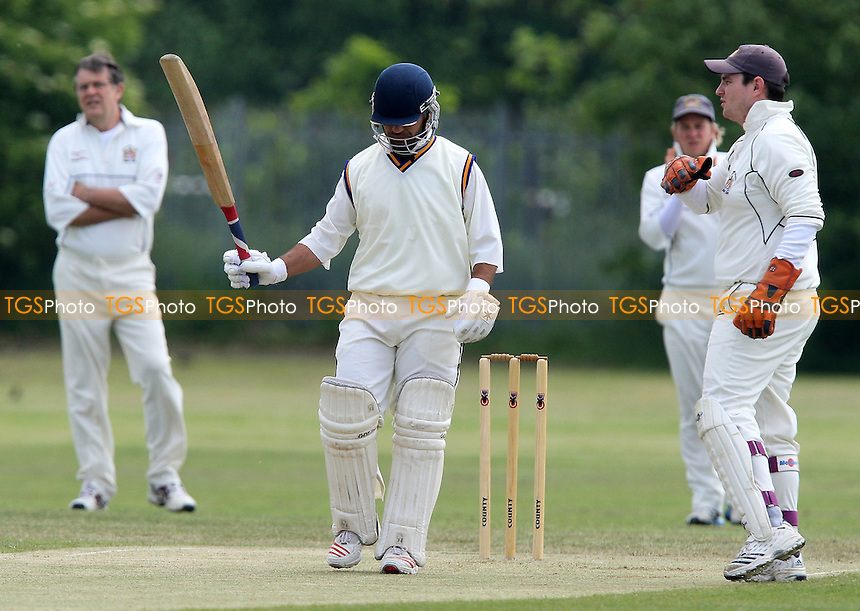 A Khan of Ford acknowledges 50 runs - Ford CC vs Hornchurch Athletic CC - Lords International Cricket League- 24/05/08 - MANDATORY CREDIT: Gavin Ellis/TGSPHOTO. Self-Billing applies where appropriate. NO UNPAID USE. Tel: 0845 094 6026