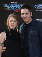 "HOLLYWOOD, CA - April 19: David Dastmalchian, Evelyn Leigh, At Premiere Of Disney And Marvel's ""Guardians Of The Galaxy Vol. 2"" At The Dolby Theatre  In California on April 19, 2017. Credit: FS/MediaPunch"