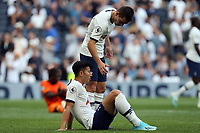 A dejected Giovani Lo Celso and Son Heung-Min of Tottenham Hotspur after Tottenham Hotspur vs Newcastle United, Premier League Football at Tottenham Hotspur Stadium on 25th August 2019
