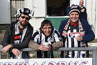 Grimsby Town fans pictured ahead of during the FA Trophy Semi Final first leg match between Bognor Regis and Grimsby Town at Nyewood Lane, Bognor Regis, England on 12 March 2016. Photo by Paul Paxford/PRiME Media Images.