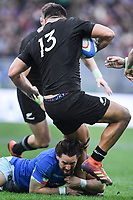Michele Campagnaro Italy, Anton Lienert-Brown All Blacks<br /> Roma 24-11-2018  Stadio Olimpico,<br /> Rugby Cattolica Test Match 2018<br /> Italia vs Nuova Zealanda / Italy vs New Zealand <br /> Photo Antonietta Baldassarre / Insidefoto