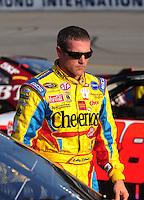 May 2, 2008; Richmond, VA, USA; NASCAR Sprint Cup Series driver Bobby Labonte during qualifying for the Dan Lowry 400 at the Richmond International Raceway. Mandatory Credit: Mark J. Rebilas-US PRESSWIRE