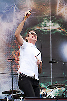 Karnivool performing at the 2010 Melbourne Big Day Out festival at Flemington Racecourse, 26 January 2010
