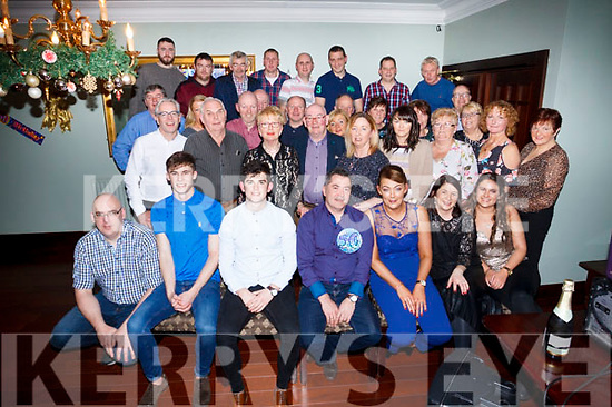 Big 50. Claude O'Coonor (seated front centre) celebrating his his big 50 with family and friends in the Imperial Hotel, Tralee on Saturday night.