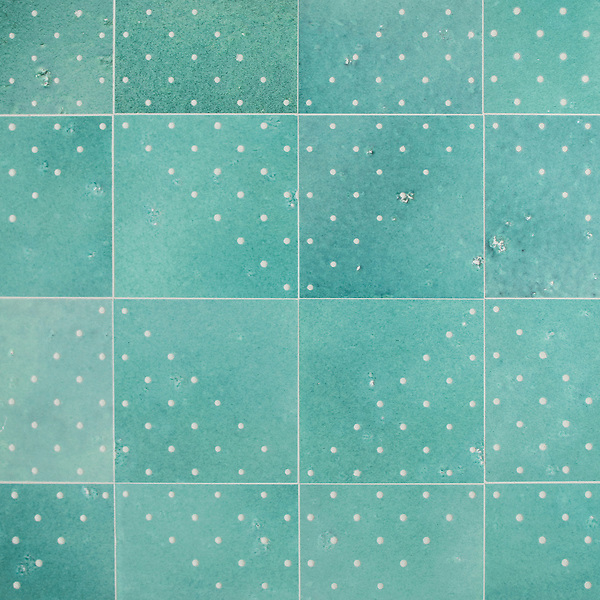 Yorke, a waterjet stone mosaic, shown in Lotus Basalto, is part of the Bright Young Things™ collection by New Ravenna.