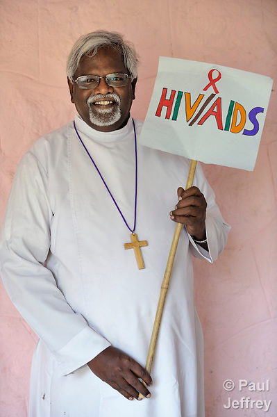 Suneel Bhanu is president of the Andhra Evangelical Lutheran Church, headquartered in Guntur, Andhra Pradesh, India. He supports the rights of people living with HIV and AIDS.