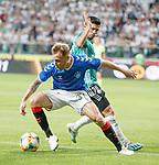 22.08.2019 Legia Warsaw v Rangers: Scott Arfield and Andre Martins