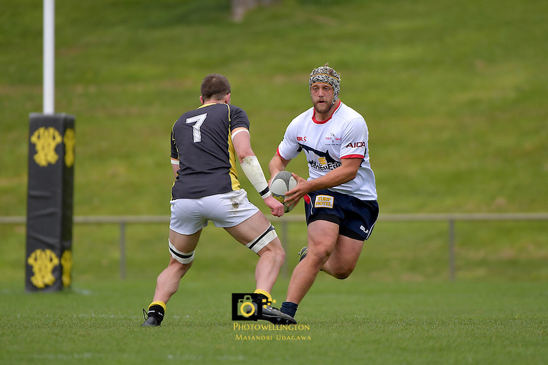 Rugby - Wellington Development v Tasman Development at Porirua Park, Porirua, New Zealand on Saturday 8 October 2016.<br /> Photo by Masanori Udagawa. <br /> www.photowellington.photoshelter.com.