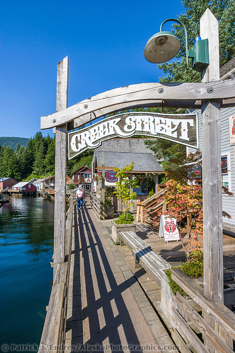 Famous Creek Street in downtown Ketchikan, southeast, Alaska.