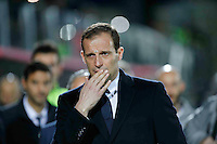 Massimiliano Allegri  during the  italian serie a soccer match,between Crotone and Juventus      at  the Scida   stadium in Crotone  Italy , February 08, 2017