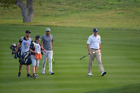 Tony Finau (USA) and Matt Kuchar (USA) approach the green on 10 during day 1 of the Valero Texas Open, at the TPC San Antonio Oaks Course, San Antonio, Texas, USA. 4/4/2019.<br /> Picture: Golffile | Ken Murray<br /> <br /> <br /> All photo usage must carry mandatory copyright credit (© Golffile | Ken Murray)