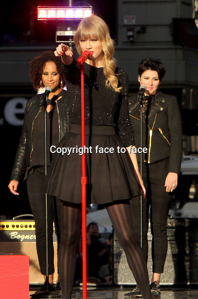 Taylor Swift performs during the Good Morning America Concert Series in front of the Good Morning America Time Square studio in New York, 23.10.2012...Credit: MediaPunch/face to face..- Germany, Austria, Switzerland, Eastern Europe, Australia, UK, USA, Taiwan, Singapore, China, Malaysia and Thailand rights only -
