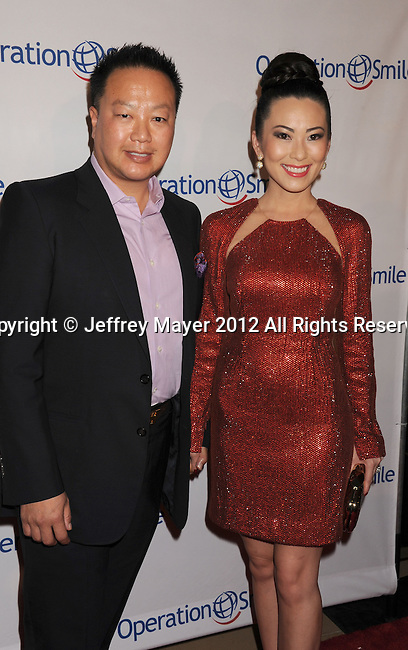 BEVERLY HILLS, CA - SEPTEMBER 28: Dr. Gabriel Chiu and Christine Chiu attend Operation Smile's 30th Anniversary Smile Gala - Arrivals at The Beverly Hilton Hotel on September 28, 2012 in Beverly Hills, California.