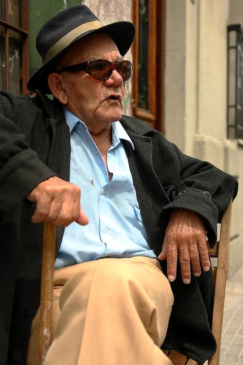 Old man in Ciudad Vieja, Montevideo.