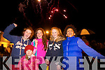 Ava Kelliher, Aisling Canty, Ceri O'Leary, Leona O'Shea and Michael Everett, watching the fire works display at Manor East, Tralee on Tuesday night.
