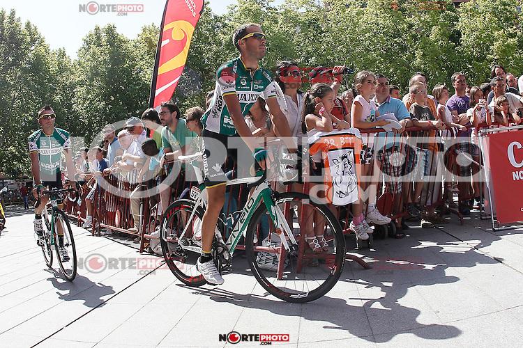 Marcos Garcia (l) and Antonio Piedra during the stage of La Vuelta 2012 between Logroño and Logroño.August 22,2012. (ALTERPHOTOS/Acero) /NortePhoto.com<br /> <br /> **SOLO*VENTA*EN*MEXICO**<br /> **CREDITO*OBLIGATORIO**<br /> *No*Venta*A*Terceros*<br /> *No*Sale*So*third*<br /> *** No Se Permite Hacer Archivo**<br /> *No*Sale*So*third*