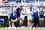DURHAM, NC - FEBRUARY 18: Northwestern's Lindsey McKone. The Duke University Blue Devils hosted the Northwestern University Wildcats on February 18, 2018, at Koskinen Stadium in Durham, NC in women's college lacrosse match. Duke won the game 9-8.