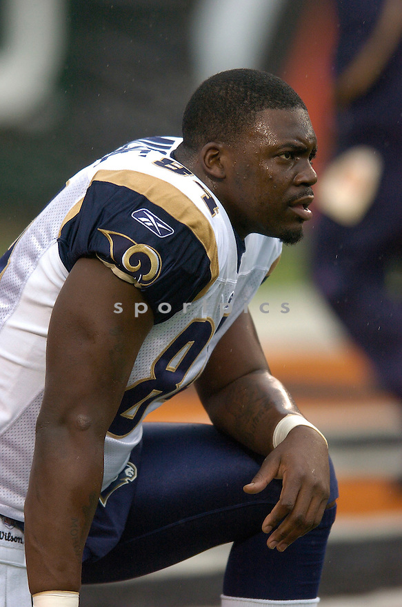RANDY MCMICHAEL, of the  St. Louis Rams  in action during the Rams game against the Cincinnati Bengals on December 9, 2007 in Cincinnati, Ohio...BENGALS   win 19-10..SportPics