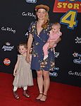 "Erika Christensen and family - kids 057 arrives at the premiere of Disney and Pixar's ""Toy Story 4"" on June 11, 2019 in Los Angeles, California."