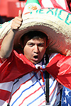 18 JUN 2010:  United States fan in the stands with a Mexico sombrero.  The Slovenia National Team played the United States National Team at Ellis Park Stadium in Johannesburg, South Africa in a 2010 FIFA World Cup Group C match.