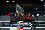 Ludger Beerbaum on Chaman competes during the AirbusTrophy at the Longines Masters of Hong Kong on 20 February 2016 at the Asia World Expo in Hong Kong, China. Photo by Juan Manuel Serrano / Power Sport Images