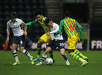 Preston North End's Sean Maguire in action with West Bromwich Albion's Nathan Ferguson<br /> <br /> Photographer Mick Walker/CameraSport<br /> <br /> The EFL Sky Bet Championship - Preston North End v West Bromwich Albion - Monday 2nd December 2019 - Deepdale Stadium - Preston<br /> <br /> World Copyright © 2019 CameraSport. All rights reserved. 43 Linden Ave. Countesthorpe. Leicester. England. LE8 5PG - Tel: +44 (0) 116 277 4147 - admin@camerasport.com - www.camerasport.com