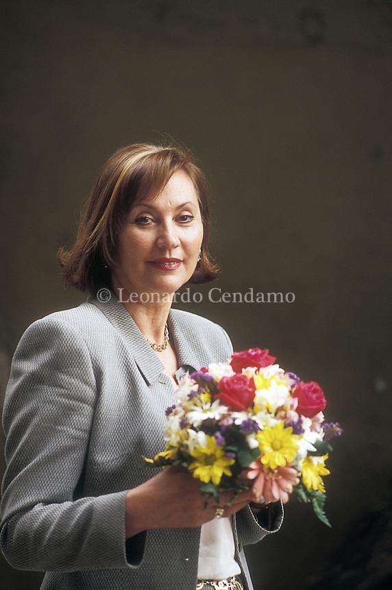 Milan, Italy, 1997. Marisa Fenoglio. Italian writer. © Leonardo Cendamo