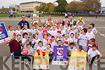 Students pictured at the launch of Football against racism in Europe at Holy Family School on Thursday.