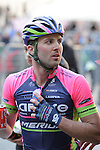 Andrea Palini (ITA) Lampre-Merida after finishing on Il Campo in Siena at the end of the 2014 Strade Bianche race over the white dusty gravel roads of Tuscany running 200km from San Gimignano to Siena, Italy. 8th March 2014.<br /> Picture: Eoin Clarke www.newsfile.ie