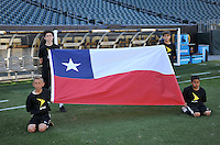 Philadelphia, PA - Tuesday June 14, 2016: Chile flag prior to a Copa America Centenario Group D match between Chile (CHI) and Panama (PAN) at Lincoln Financial Field.