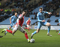 Fleetwood Town's Wes Burns  gets a shot on goal<br /> <br /> Photographer Mick Walker/CameraSport<br /> <br /> The EFL Sky Bet League One - Coventry City v Fleetwood Town - Tuesday 12th March 2019 - Ricoh Arena - Coventry<br /> <br /> World Copyright &copy; 2019 CameraSport. All rights reserved. 43 Linden Ave. Countesthorpe. Leicester. England. LE8 5PG - Tel: +44 (0) 116 277 4147 - admin@camerasport.com - www.camerasport.com