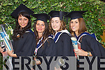 Khrystyna Melnychenko, Tralee, Katalin Stvorecz, Killorglin, Yvonne Bovenizer Adare, and Julia Vergez Tralee, who graduated with a Bachelor of Business in Tourism at the Autumn graduations which took place at the Brandon hotel on Friday.