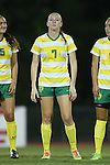 04 September 2015: Oregon's Miranda Schulz. The North Carolina State University Wolfpack hosted the Oregon University Ducks at Dail Soccer Field in Raleigh, NC in a 2015 NCAA Division I Women's Soccer game. NC State won the game 2-0.