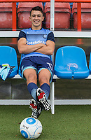 Luke O'Nien of Wycombe Wanderers sits in the dugout ahead of the pre season friendly match between Aldershot Town and Wycombe Wanderers at the EBB Stadium, Aldershot, England on 22 July 2017. Photo by Andy Rowland.