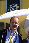 Tour Director Christian Prudhomme ASO in the Tour Village before the start of Stage 18 of the 104th edition of the Tour de France 2017, running 179.5km from Briancon to the summit of Col d'Izoard, France. 20th July 2017.<br /> Picture: Eoin Clarke | Cyclefile<br /> <br /> <br /> All photos usage must carry mandatory copyright credit (&copy; Cyclefile | Eoin Clarke)